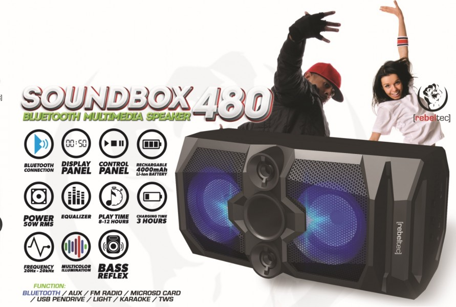 Głośnik bluetooth SoundBOX 480